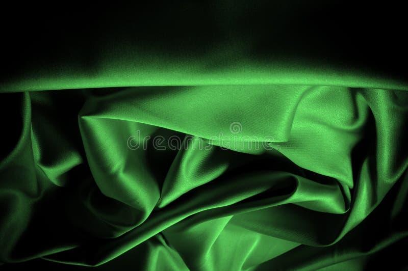 Текстура, предпосылка, картина Шелк ткани темные ые-зелен выразьте стоковая фотография rf