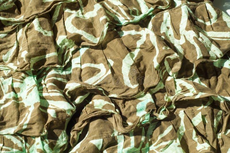 Текстура, предпосылка, картина Юбка женщин Prote хлопка ткани стоковые фотографии rf