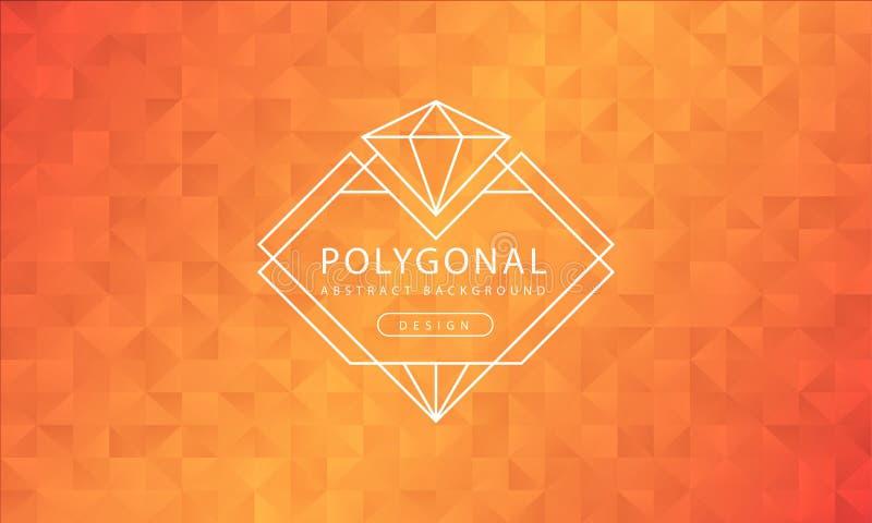 Текстура предпосылки конспекта полигональная желтая оранжевая, желтый оранжевый текстурировать, предпосылки полигона знамени, илл иллюстрация вектора