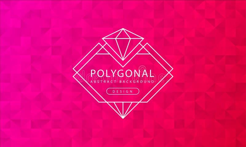 Текстура предпосылки конспекта полигональная красная розовая, красный розовый текстурировать, предпосылки полигона знамени, иллюс иллюстрация вектора