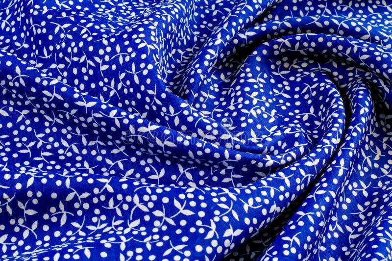 Текстура предпосылки, рисуя Хлопок ткани Голубая предпосылка, smal стоковое изображение