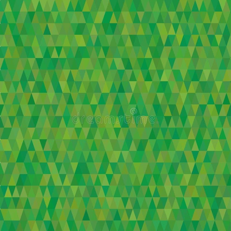 Текстура предпосылки треугольников зеленая иллюстрация штока