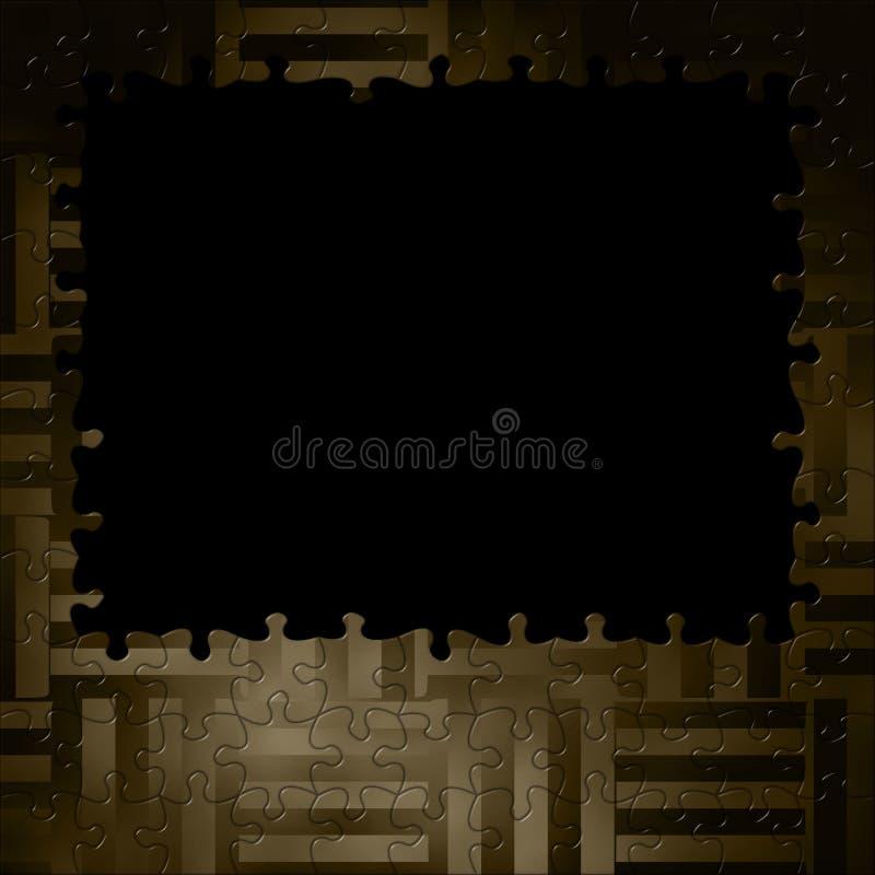 Текстура предпосылки фантазии рамки головоломки/соткать иллюстрация штока