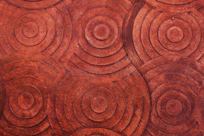 Текстура предпосылки каменной стены Брайна красная стоковое изображение