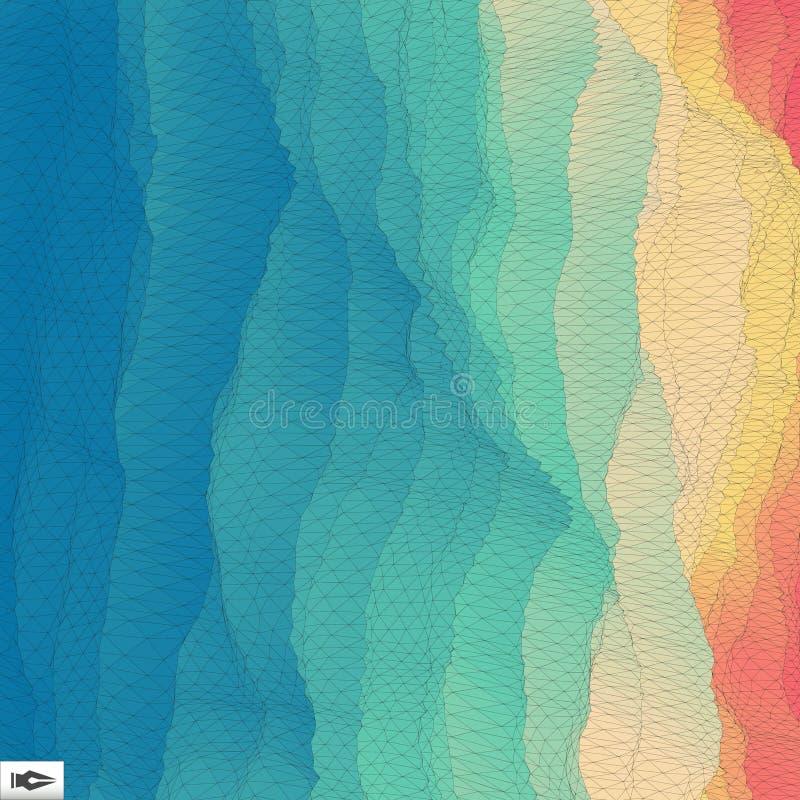 текстура предпосылки решетки перспективы 3d мозаика иллюстрация штока