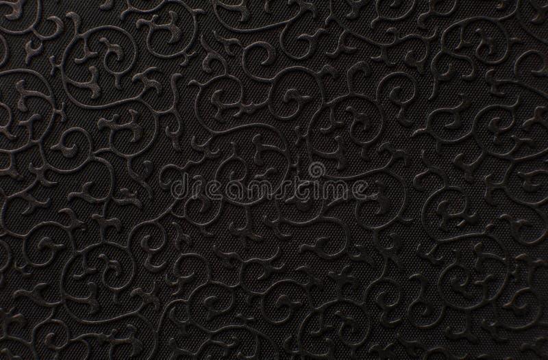 текстура предпосылки черная кожаная стоковые изображения rf