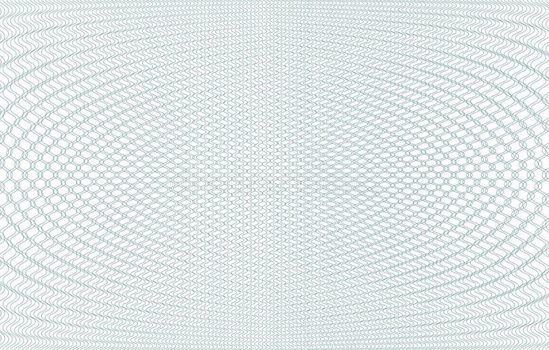 Текстура предпосылки Guilloche - зеленый зигзаг Для сертификата, ваучер, банкнота, ваучер, дизайн денег, валюта, замечает иллюстрация штока
