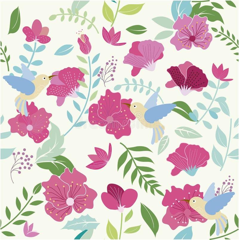 Текстура птицы и цветка бесплатная иллюстрация