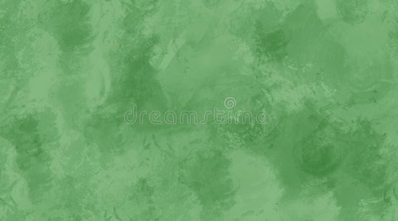 Текстура плитки зеленой предпосылки акварели безшовная иллюстрация вектора