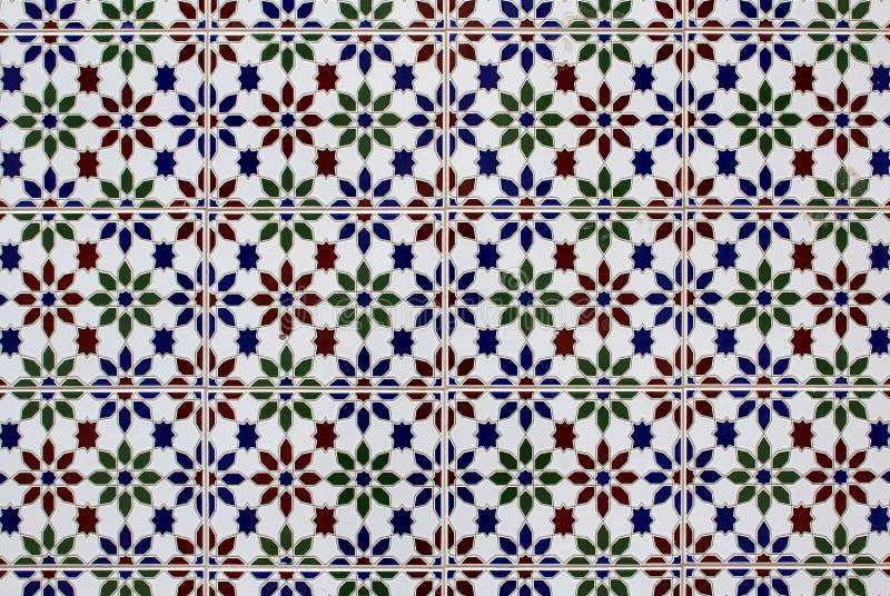 Текстура плитки искусства Azulejo португальская традиционная покрашенная стоковые изображения