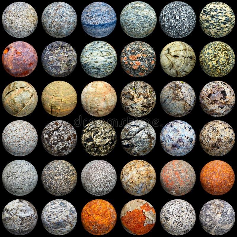 текстура различных материалов шариков безшовная иллюстрация вектора
