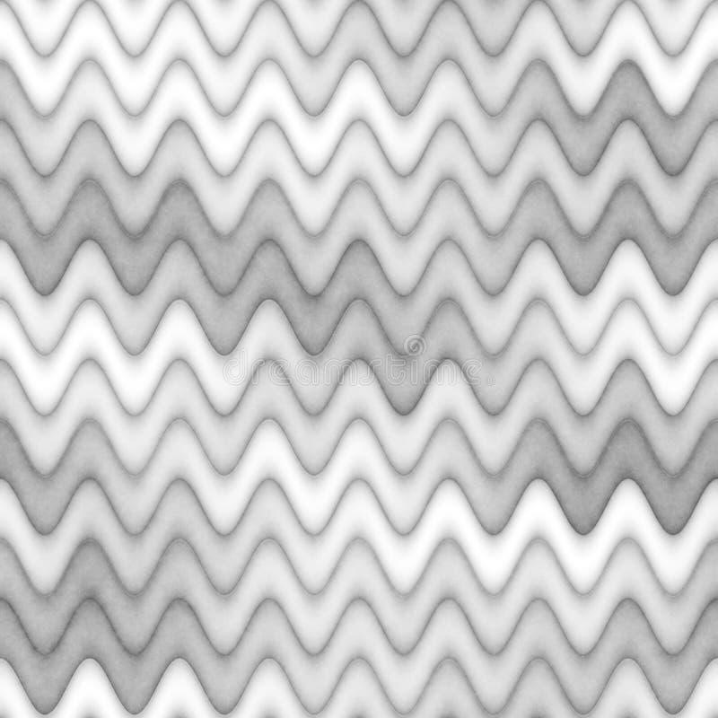 Текстура растра безшовная Greyscale Линии картина градиента волнистые вектор абстрактной иллюстрации предпосылки тонкий бесплатная иллюстрация