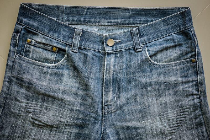 Текстура ремонта шьет для старых синих джинсов джинсовой ткани стоковые изображения rf