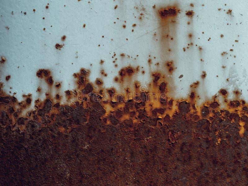 Текстура ржавого старого металла с корозией Предпосылка утюга стиля Grunge грязная стоковая фотография rf