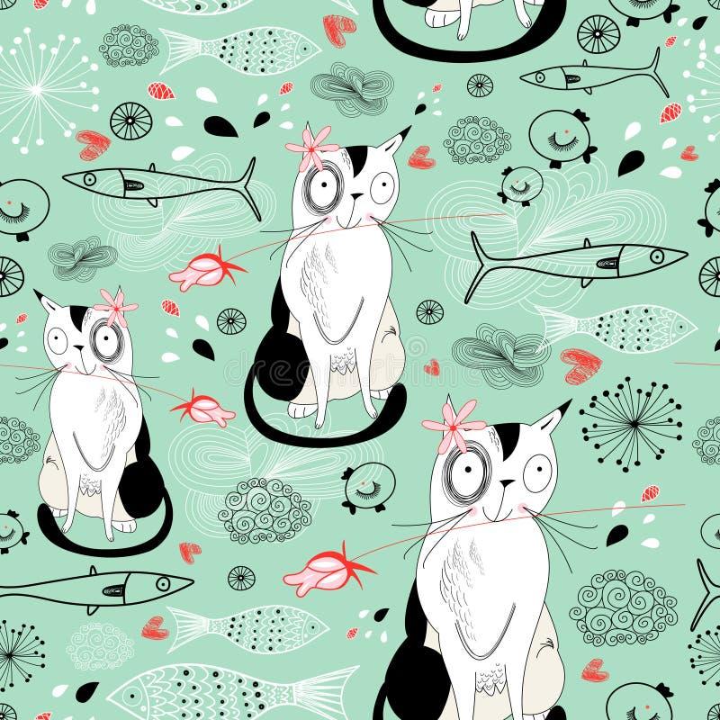 текстура рыб котов бесплатная иллюстрация