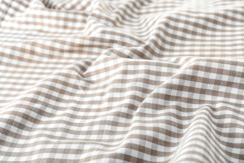 Текстура салфетки таблицы ткани, крупного плана стоковое фото