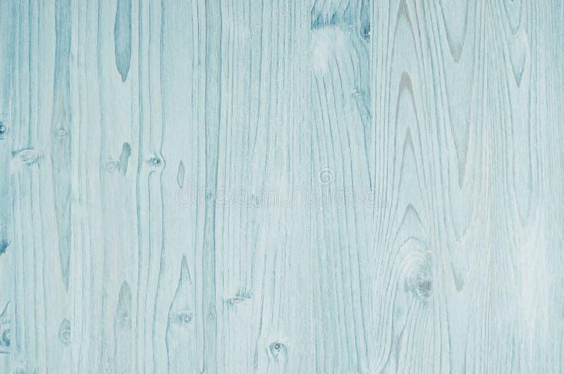 Текстура светлого aqua голубая винтажная деревянная Взгляд сверху, деревянная доска стоковое фото rf