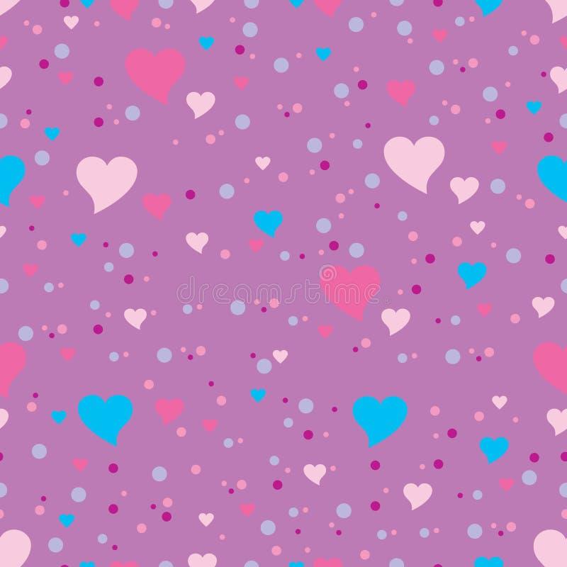 текстура сердец безшовная иллюстрация вектора
