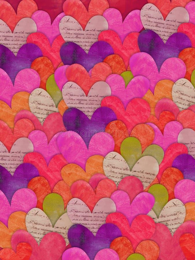 текстура сердца предпосылки цветастая стоковая фотография rf
