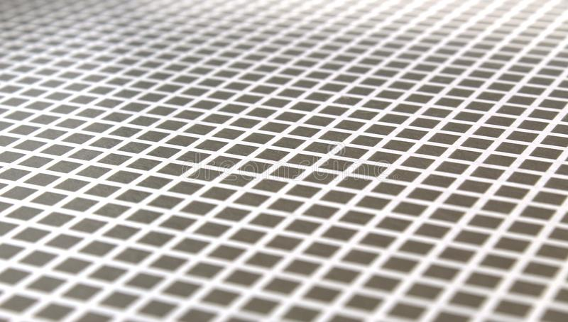 Текстура серых квадратов и белых линий увиденных в диагонали стоковая фотография rf