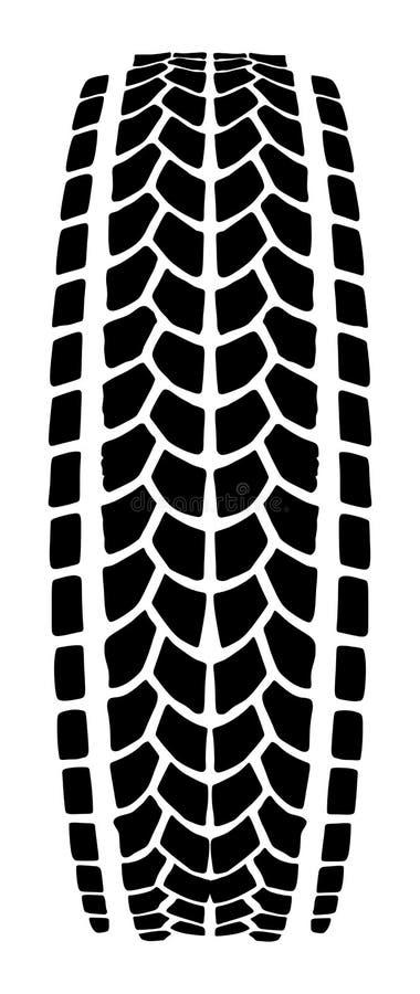 Текстура силуэта следа автошины, метки автошины иллюстрация вектора