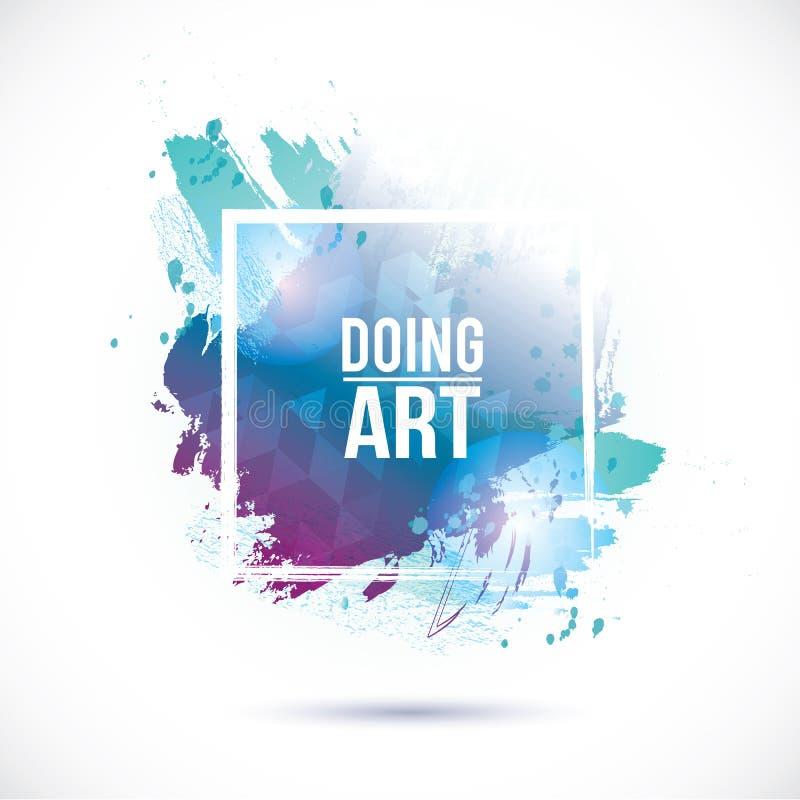 Текстура сини акварели бесплатная иллюстрация