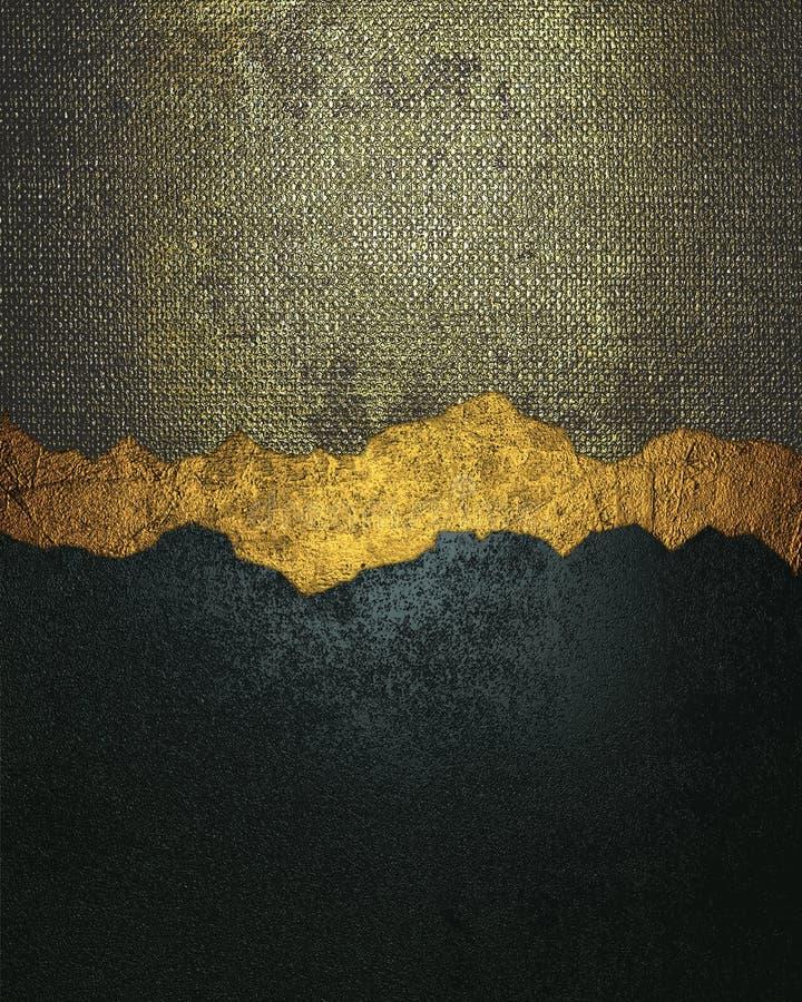 Текстура сини и золота Grunge металлическая с отказом Элемент для конструкции Шаблон для конструкции скопируйте космос для брошюр стоковые изображения