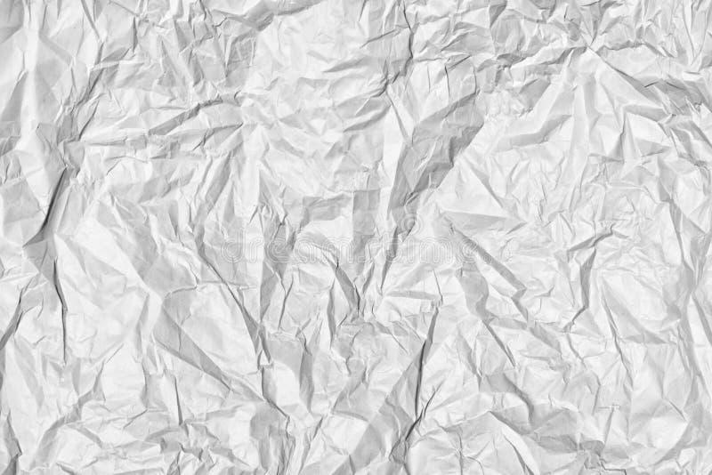 Текстура скомканного серого бумажного конца вверх Абстрактная предпосылка для планов стоковое изображение rf