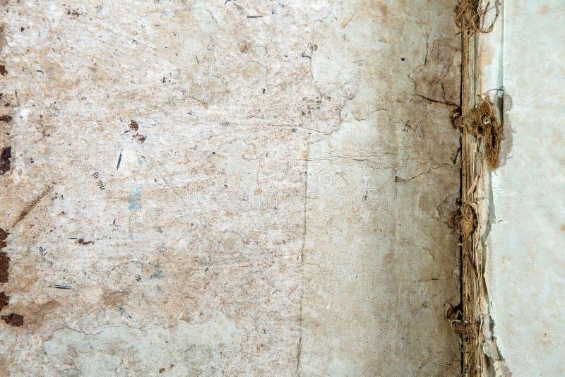 Текстура старой обложки книги винтажная изолировала письмо Yid черной рукописи предпосылки старой ветхой религиозной исторической стоковое изображение