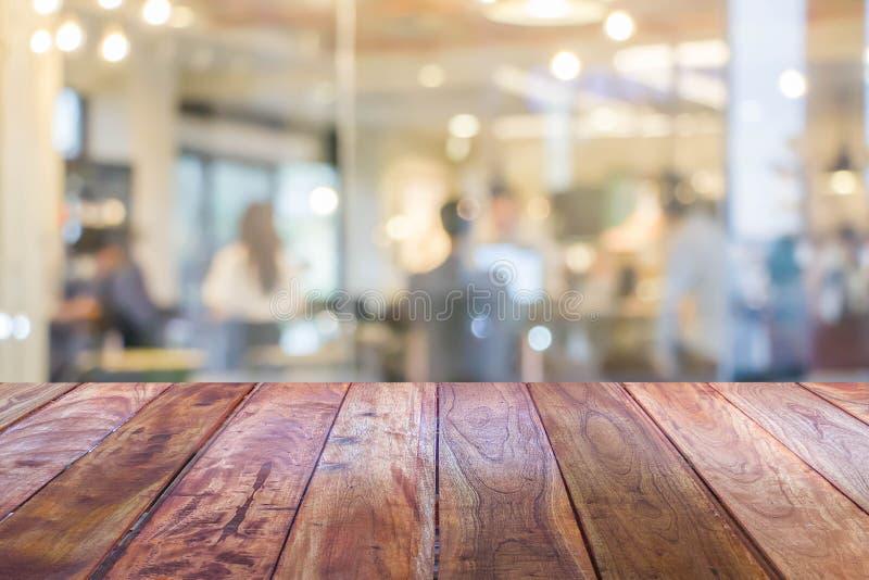 Текстура столешницы пустой перспективы grungy деревянная стоковая фотография