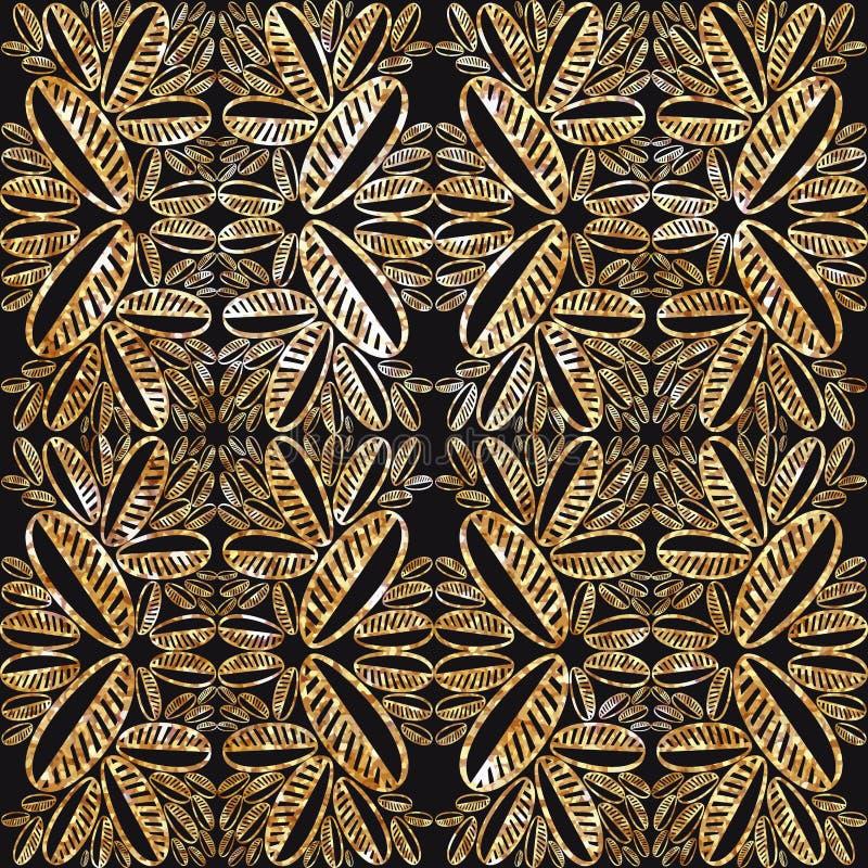 Текстура сусального золота на черной предпосылке Дизайн ткани, обои бесплатная иллюстрация