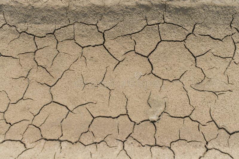 Текстура сухой земли треская стоковые фотографии rf