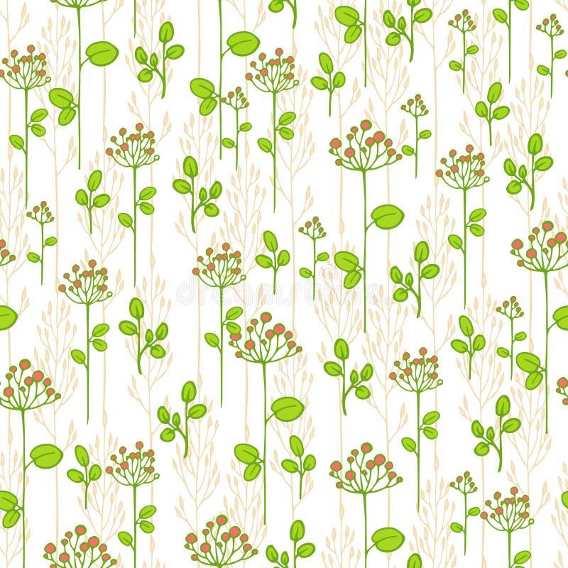 Текстура с абстрактными флористическими ветвями иллюстрация штока