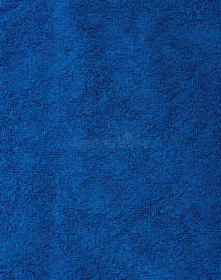 Текстура ткани голубое полотенце Terry Ткань Терри как предпосылка стоковое изображение rf