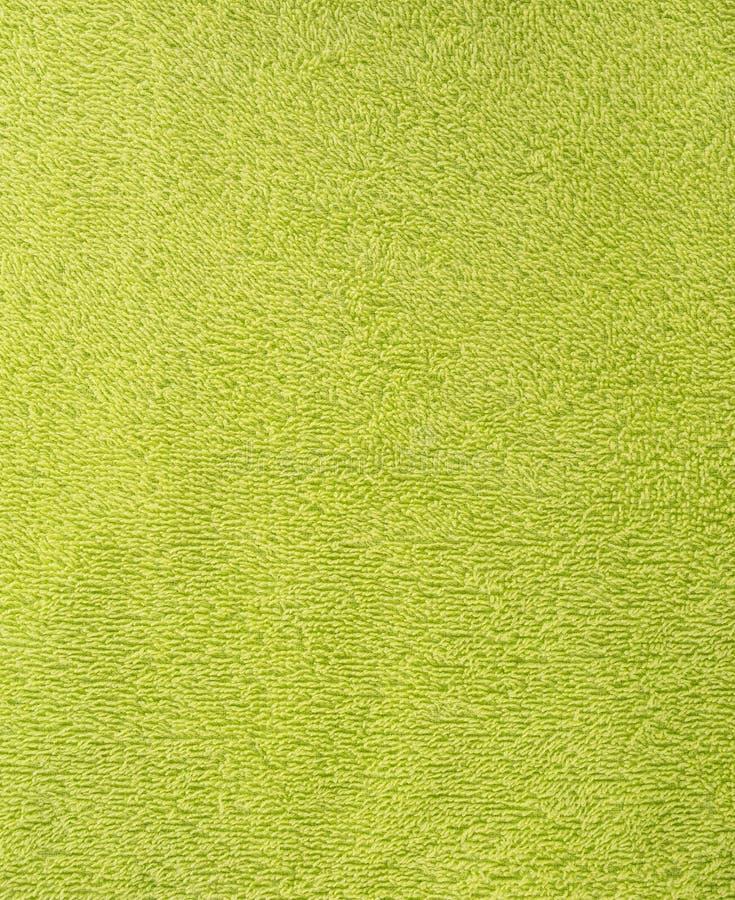 Текстура ткани зеленое полотенце Terry Ткань Терри как предпосылка стоковое изображение rf