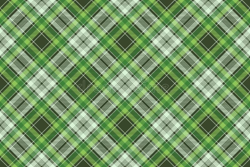 Текстура ткани зеленой ирландской шотландки ткани проверки безшовная бесплатная иллюстрация