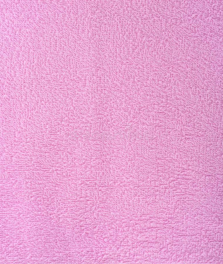 Текстура ткани розовое полотенце Terry Ткань Терри как предпосылка стоковое изображение