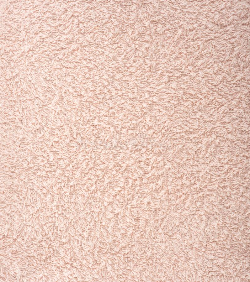 Текстура ткани светла - розовое полотенце Terry Ткань Терри как предпосылка стоковые изображения rf