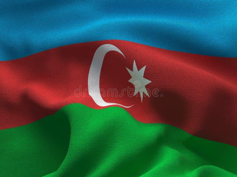 Текстура ткани с изображением флага Азербайджана, развевая в ветре бесплатная иллюстрация