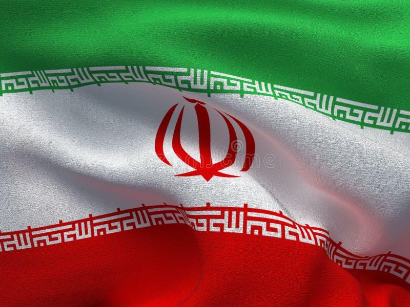 Текстура ткани с изображением флага Ирана, развевая в ветре бесплатная иллюстрация