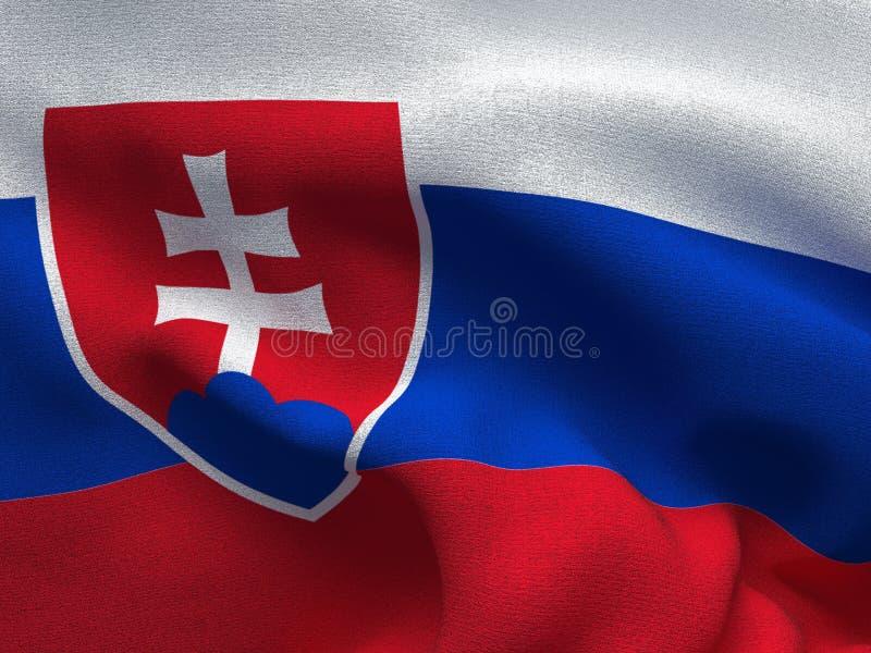 Текстура ткани с изображением флага Словакии, развевая в ветре бесплатная иллюстрация