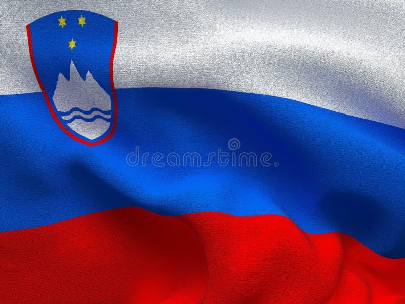 Текстура ткани с изображением флага Словении, развевая в ветре бесплатная иллюстрация