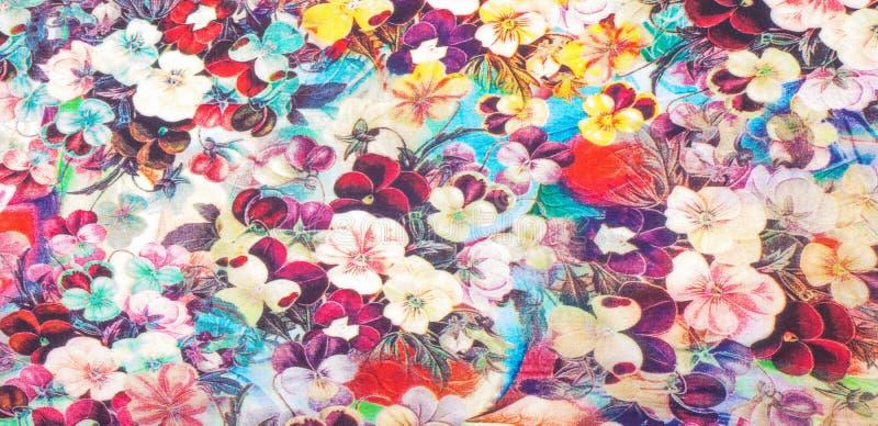 Текстура ткани с небольшими цветками стоковые изображения