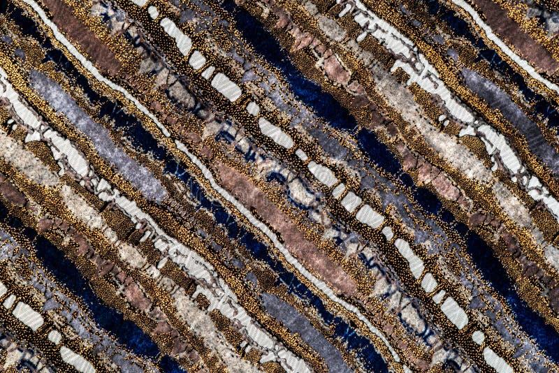 Текстура ткани Missoni бархатистая, multi красочная предпосылка поверхности ткани нашивок стоковая фотография rf