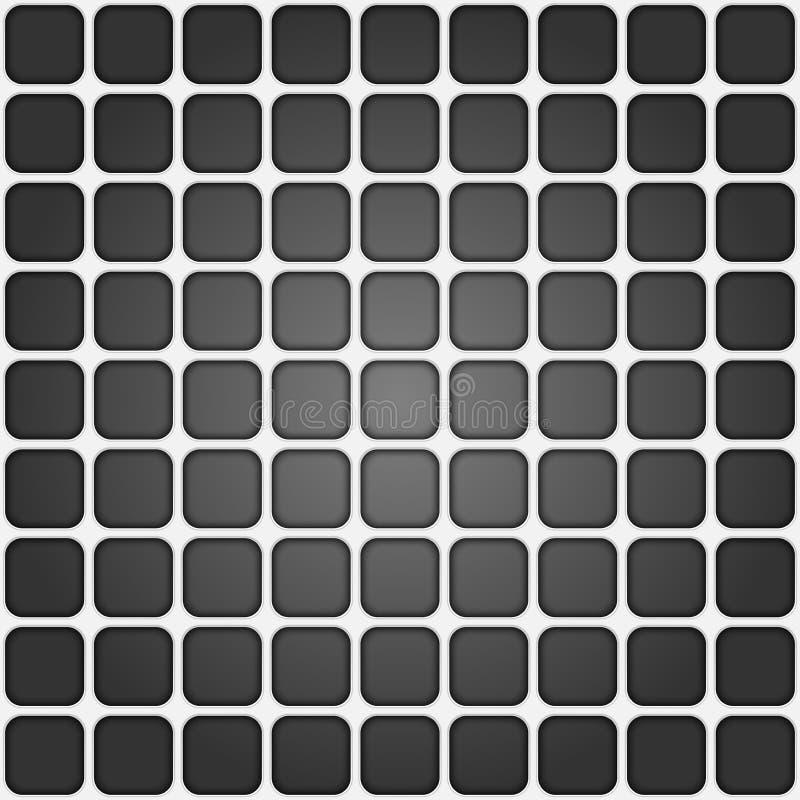 Текстура тома реалистическая, картина серой решетки квадратов 3d геометрическая иллюстрация штока