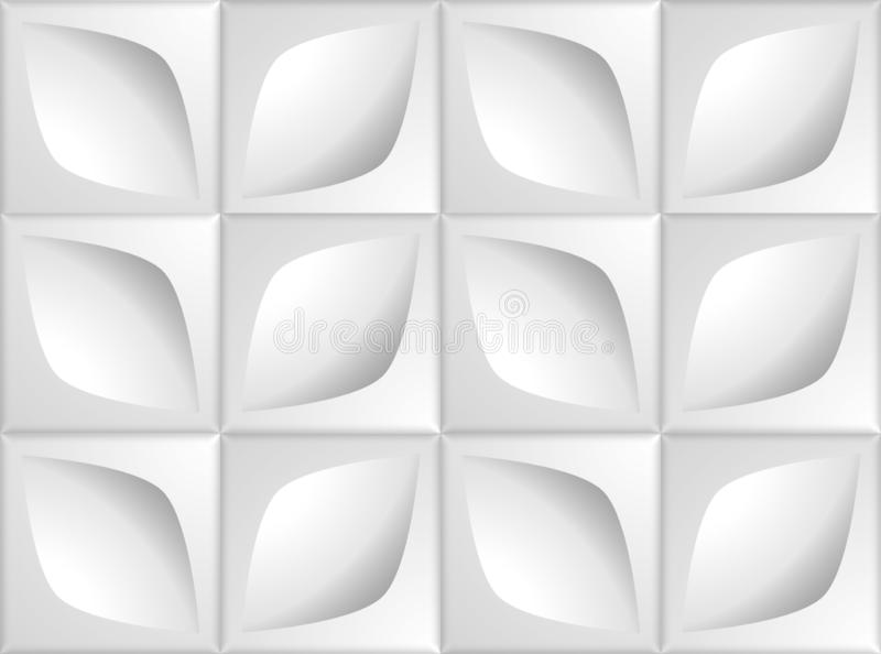 Текстура тома реалистическая, серые квадраты кубов 3d геометрические с флорой выходит картина на блок бесплатная иллюстрация