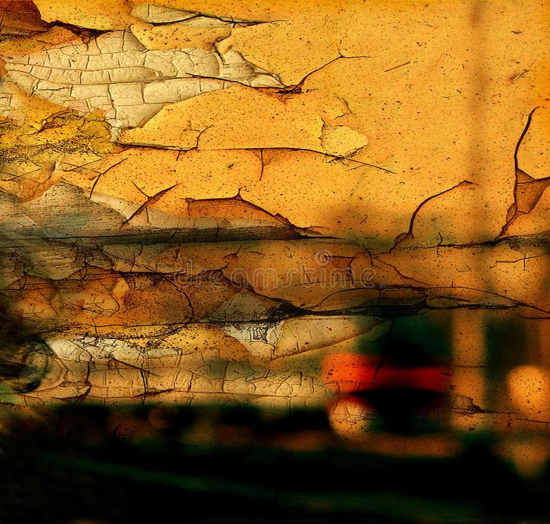 Текстура трескает старую стену стоковые фотографии rf
