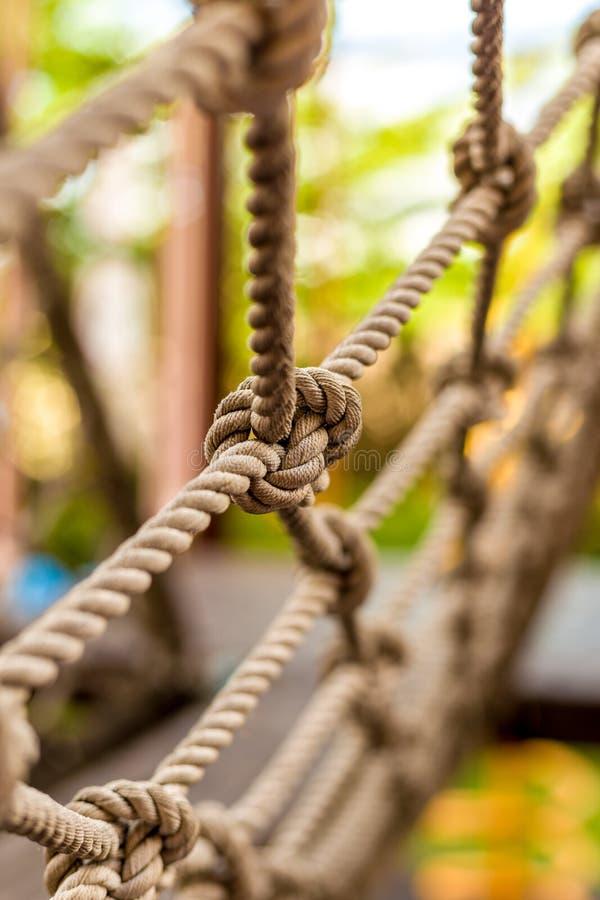 Текстура узла веревочки стоковое фото