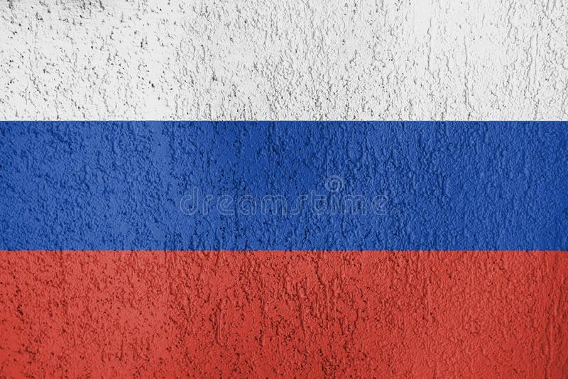 Текстура флага России на стене стоковое изображение