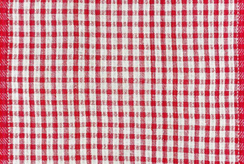 Текстура хлопко-бумажной ткани с картиной в красной коробке стоковое изображение